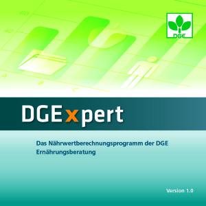 Nährwertberechnung leicht gemacht – DGE veröffentlicht neues Programm DGExpert