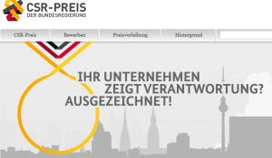 CSR-Preis der Bundesregierung: Unternehmen nominiert