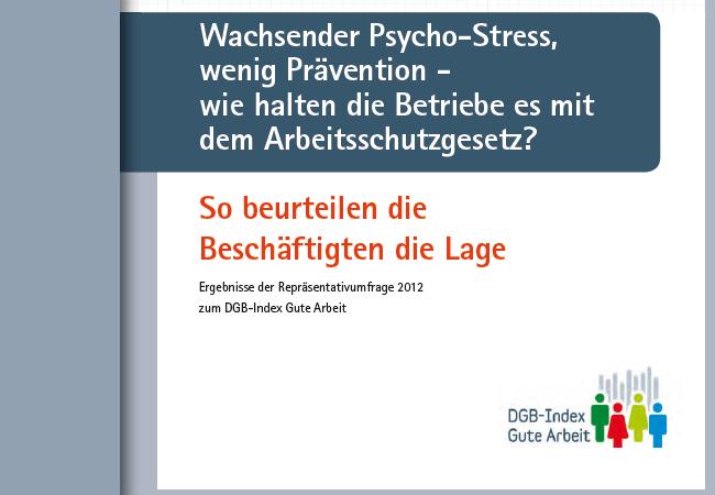 DGB-Index: Prävention gegen Psychostress mangelhaft
