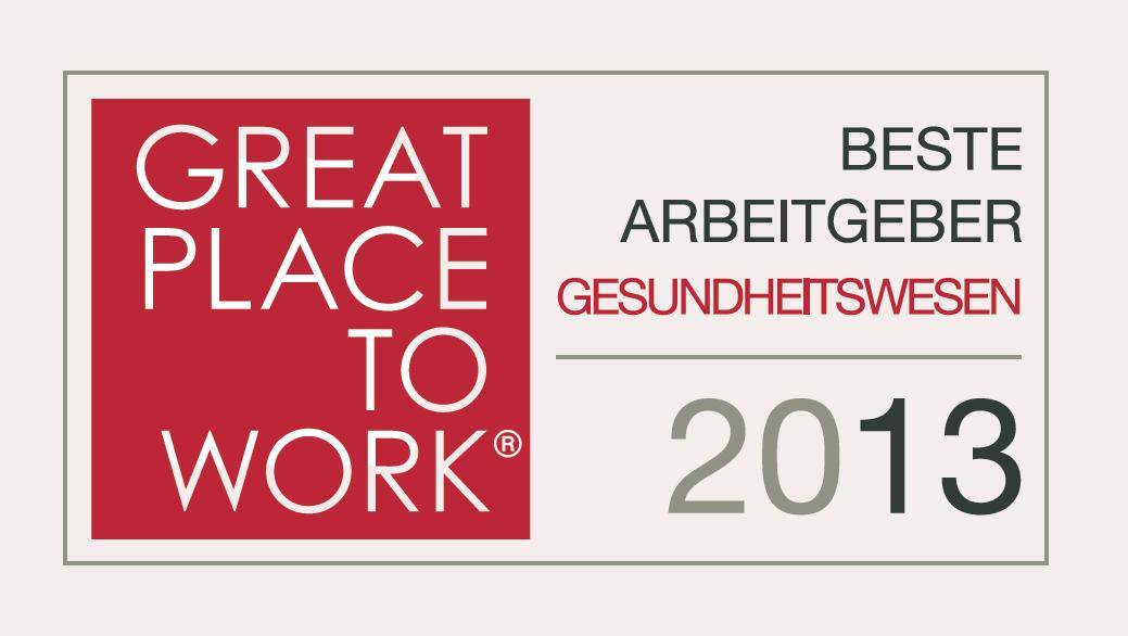 Beste Arbeitgeber im Gesundheitswesen 2013 ausgezeichnet