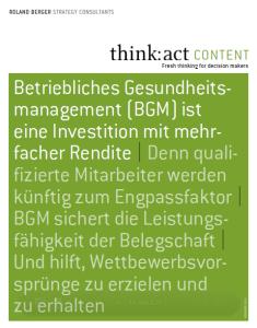 Roland Berger: BGM ist Investition mit mehrfacher Rendite