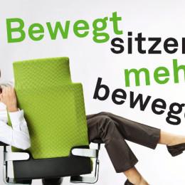 Aktion für mehr Bewegung im Büro, auch im Sitzen