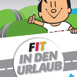 "Flyer ""Fit in den Urlaub"""