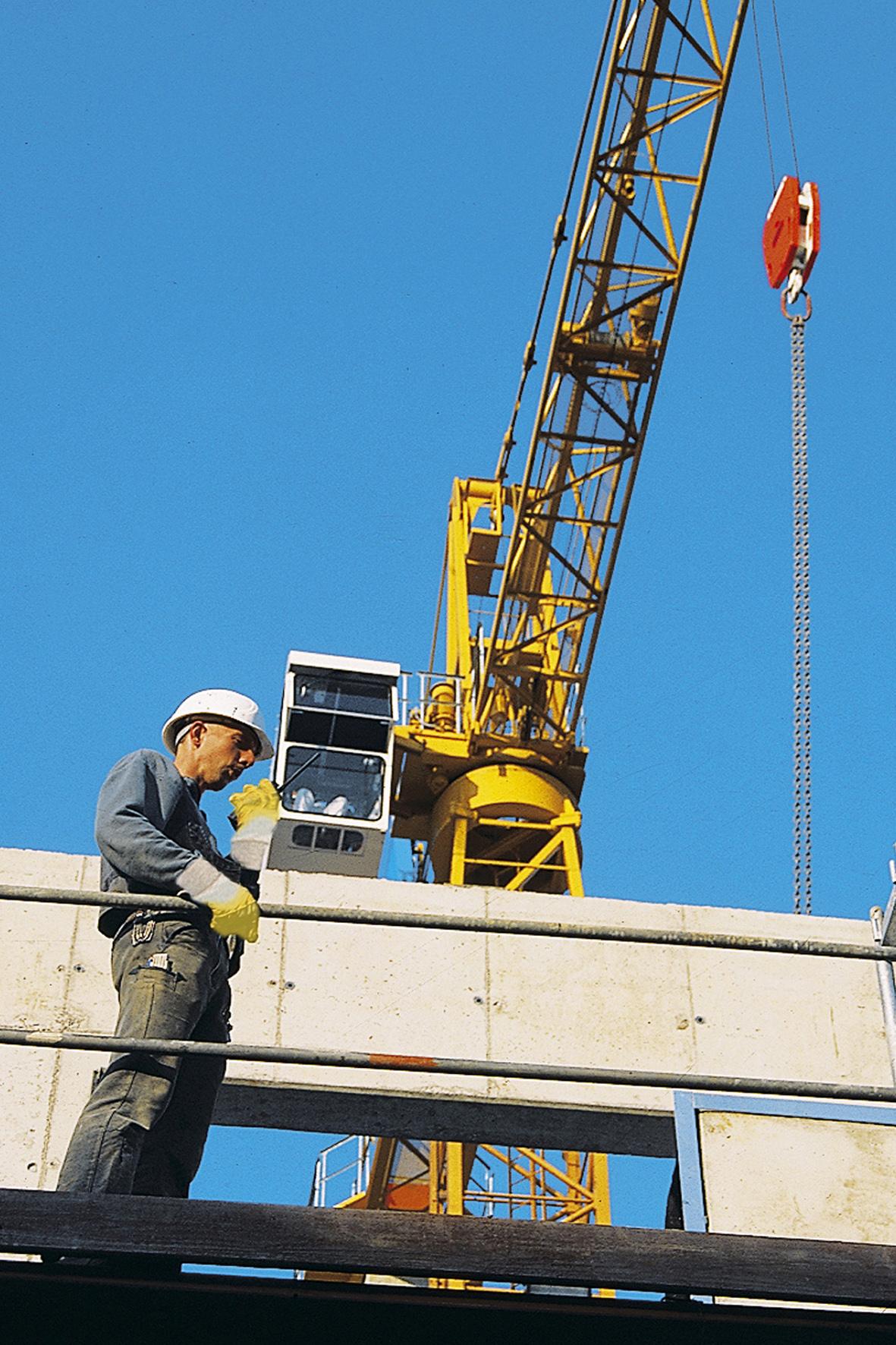 Weniger Arbeitsunfälle am Bau