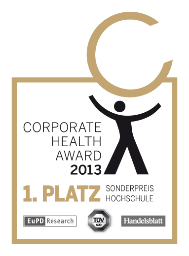 Corporate Health Award 2013, Sonderpreis Hochschule