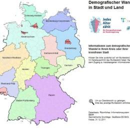 Snapshot zur interaktiven Demografiekarte