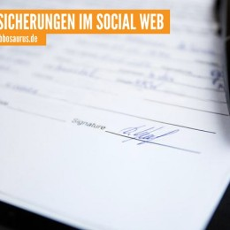 Cover: Versicherungen im Social Web, Webbosaurus GmbH
