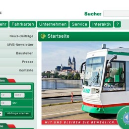 Magdeburger Verkehrsbetriebe, Startseite