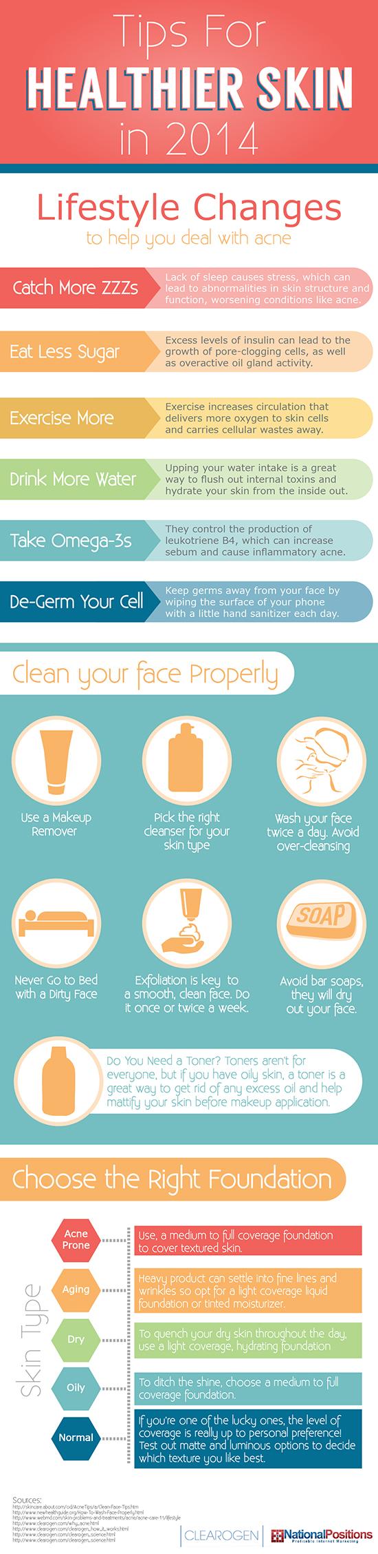 Tipps für gesündere Haut