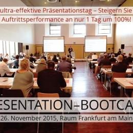 Das Presentation Bootcamp 2015 findet am 26. November statt. (Bild: © Presentation Bootcamp / Smavicon)