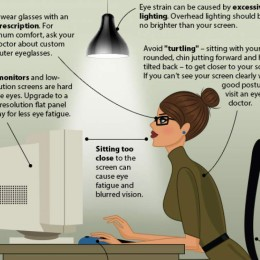 Augen schützen am Bildschirmarbeitsplatz