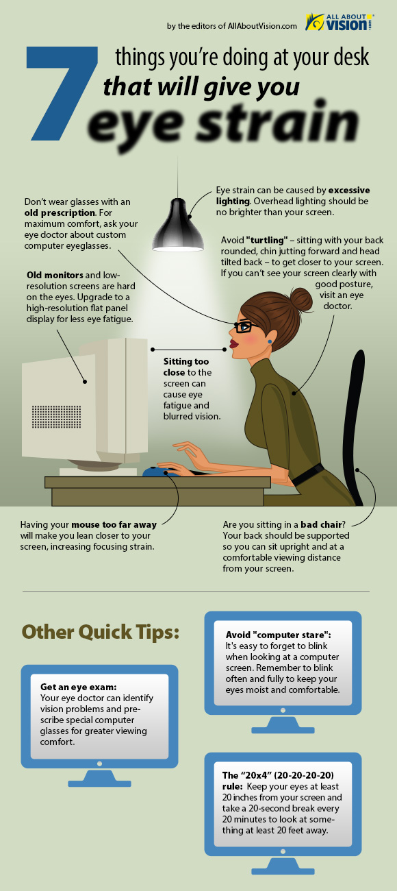 Bildschirmarbeitsplatz: So schützen Sie Ihre Augen