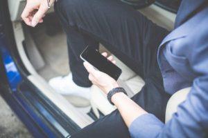Straßenverkehr, Smartphones, Autofahrer