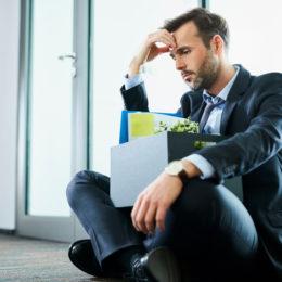 Kündigung, niedergeschlagen, Nüro, Office, Mann